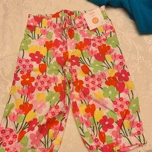 Gymboree capri floral pants